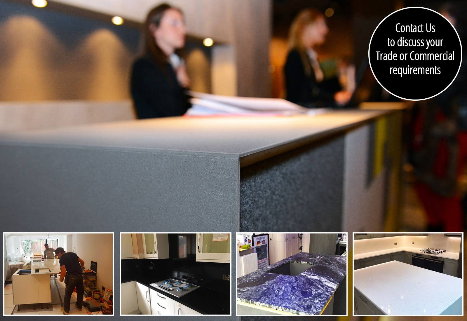 Commercial and Trade Kitchen Worktops